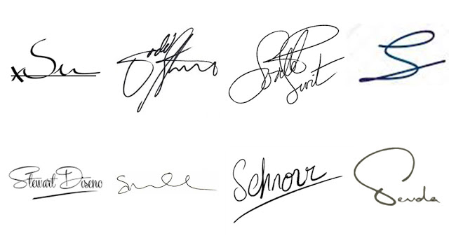 contoh tanda tangan huruf s