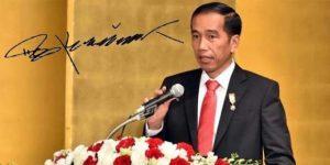 tanda tangan Jokowi