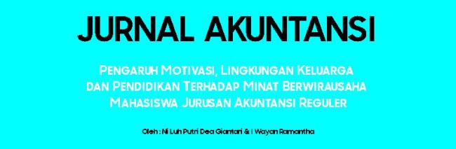 jurnal akuntansi dan bisnis